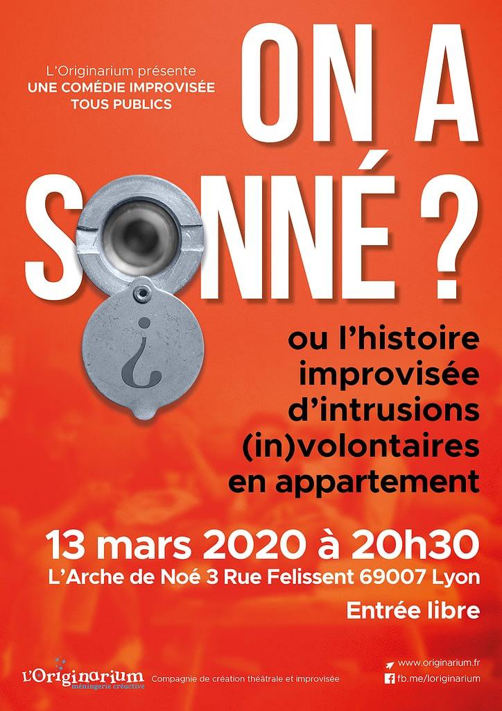 On a sonné  Spectacle d'improvisation à Lyon Mars 2020